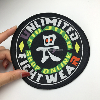 Customized embroidery/woven patches with iron on backing