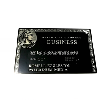 Standard Size American Express Black Card Amex Black Centurion Card