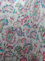 Cotton sateen print bed sheet fabric