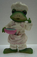 Newest Frog Wearing Bathrobe Resin Gifts Crafts for Children