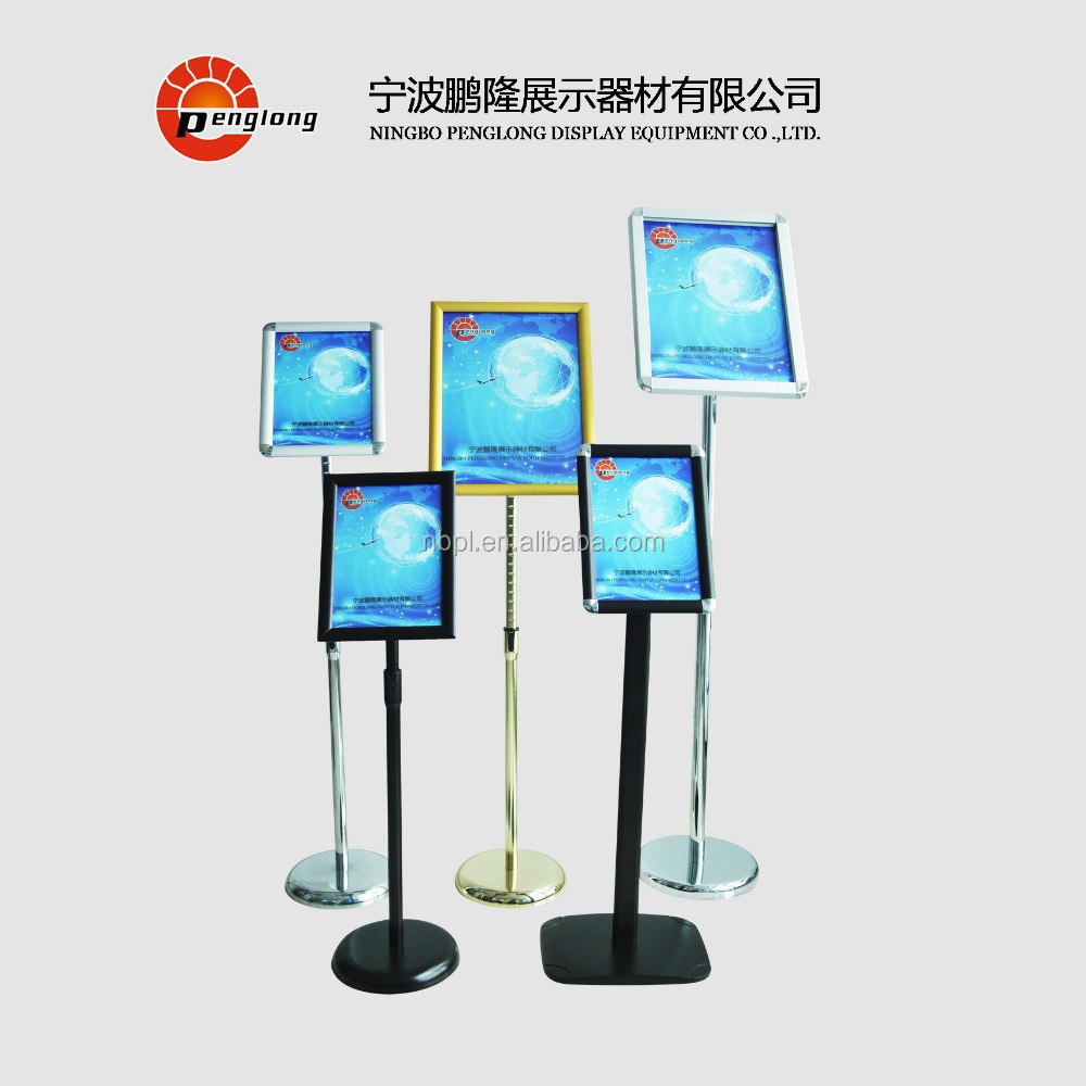 A3,A4 size aluminum adjustable display stands for shop poster,advertising