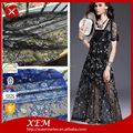 New Arrival Nylon Cotton Floral embroid organza lace fabric with Customized color