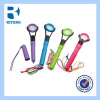 high quality retractable gel ink pens with magnifying glass and lanyard