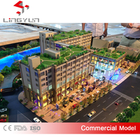China supplier 3D rendering architectural design model / Public plaza building Model making