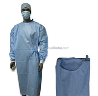 JC2027 disposable medical knitted cuffs non-woven surgical gown