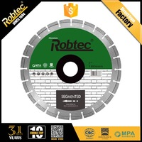 ROBTEC Hot Pressed Segmented Saw Blade 230mm Diamond Cutting Disc, Cutting and Chamfering Diamond Disc for Concrete/Brick