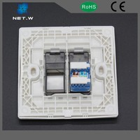 High Quality Best Price single port abs plastic faceplate