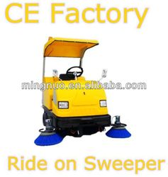 warehouse ride on sweeper, vacuum sweep cleaning car/industrial road sweeper/automatic battery floor cleaner