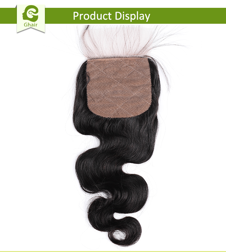 Wholesale price Malaysian Virgin Human Hair 4*4 Silk Base Lace Closure Body Wave Bundles with Closure