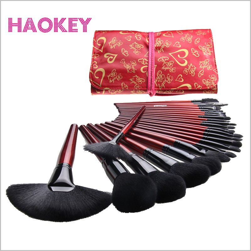High quality 24 pcs professional Makeup Brushes Lover Cosmetic Brush Set Kit