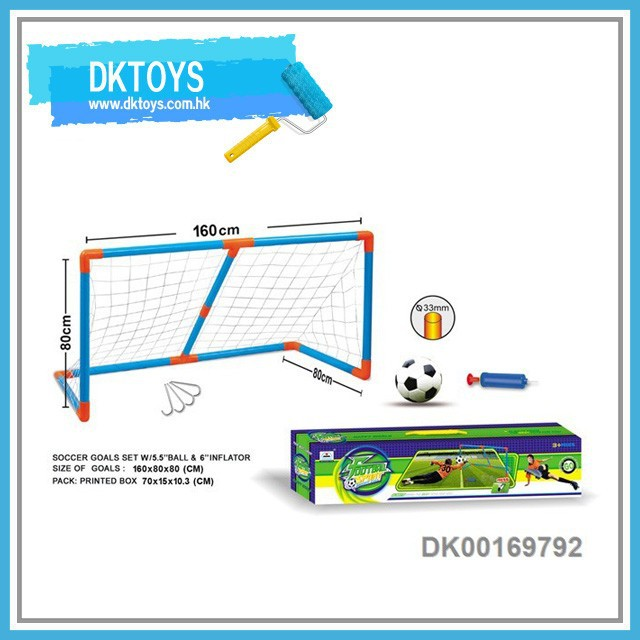 Folding Football Goal Set Mini Soccer Game With Ball Inflator