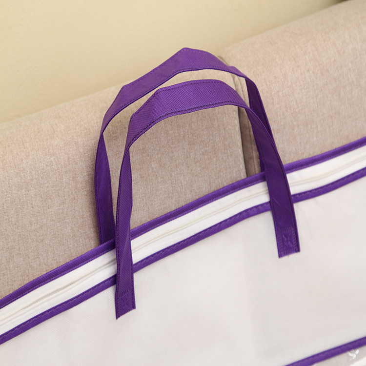 Zipper top Sewing & Handling wire frame pvc quilt bag