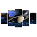 Wall Art 5 Pieces Galaxies Canvas Wall Decor Modern Planet Picture Saturn Universal Wall Poster for Living Room/SJMT1994