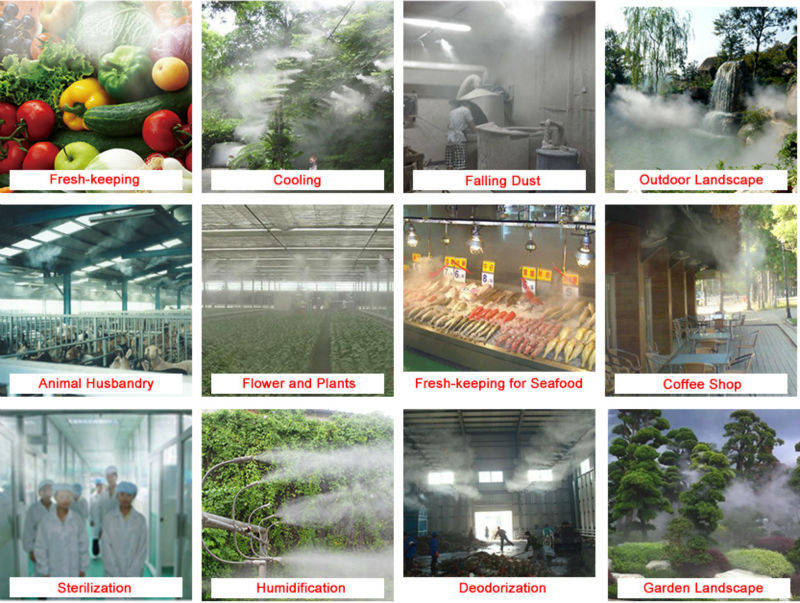 Mist irrgigation system /irrigation system for greenhouse