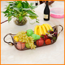 Factory direct European Iron binaural fruit plate fashion creative dried fruit plate fruit basket Special branch Lek