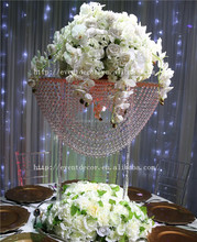 Wave shape acrylic chandelier , crystal table centerpieces for wedding decoration