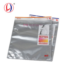 Common Cloth Packing Transparent Zipper Plastic Garment Bag For Customized