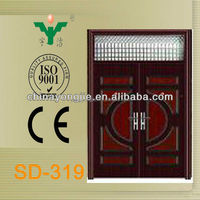 China supplier exterior steel door window insert
