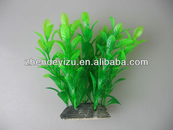 Green artificial aquatic plants decorations for aquarium for Fake pond plants