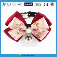 Magnetic dog show collars with bow tie