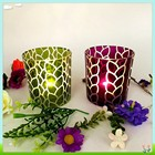 2014 fancy top quality home decoration glass candle holder,lasing glass candle holder