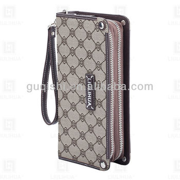 2016 Wholesale china designer Large Wallet double zipper wallet and purse