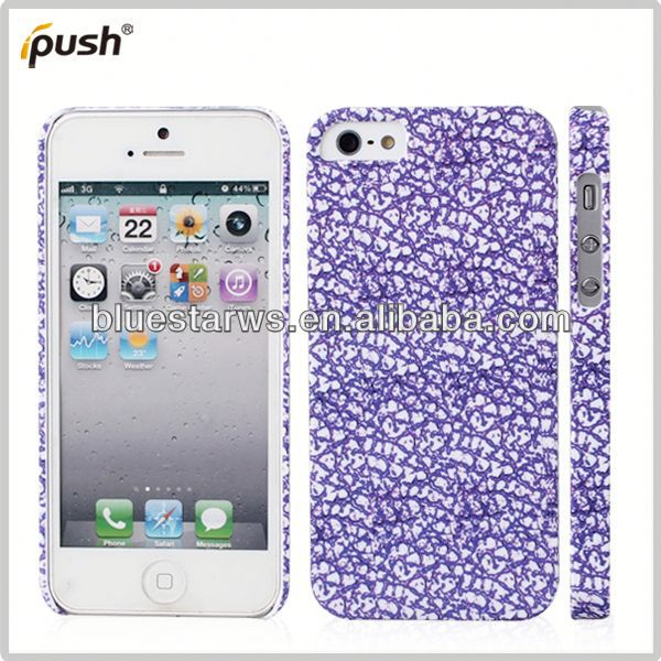 china factory wholesale stylish pc case for iphone5 Transparant pc case for iphone5