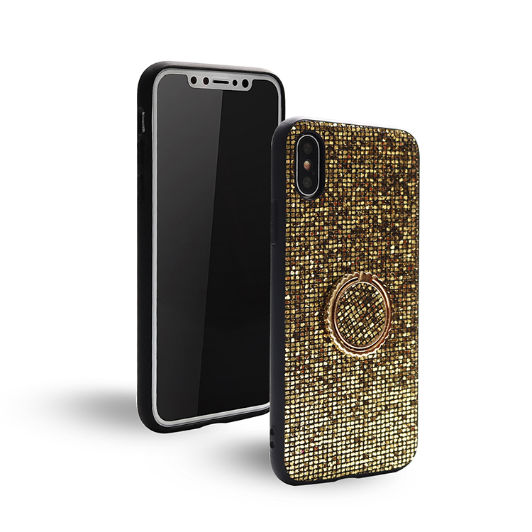 High Quality Square Sequins Magnetic Trendy Tpu Pc <strong>Mobile</strong> <strong>Phone</strong> Cover For Iphone