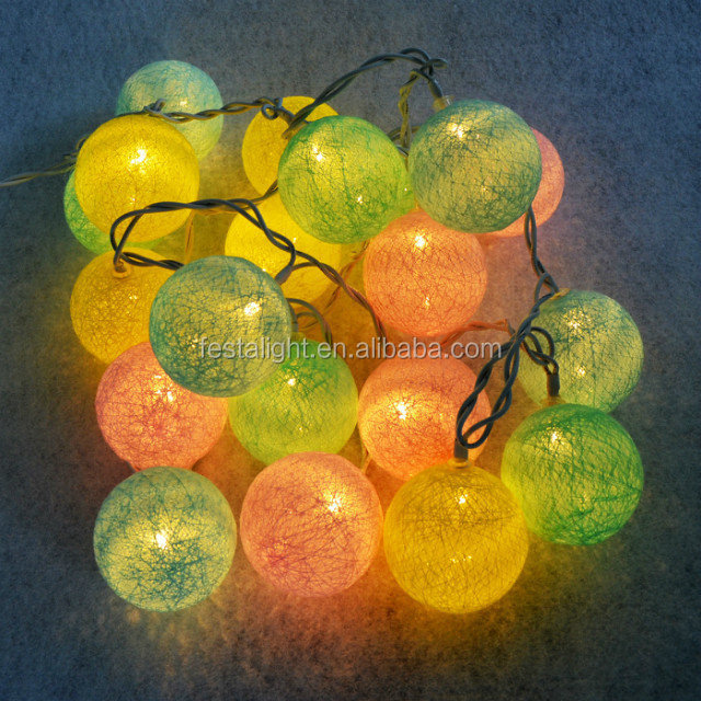 Best selling 20bulb GS approve cotton ball light