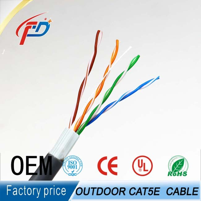 Fire resistant outdoor cat5e cat6 utp rj45 ethernet network lan cable