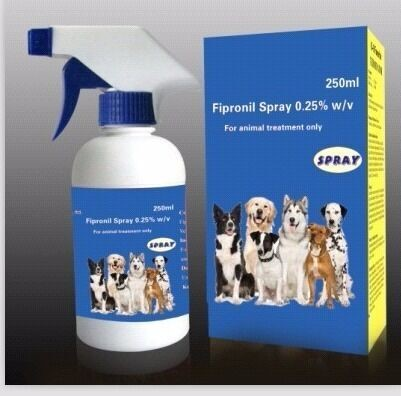 Fipronil Spray 0.25% Pet Dog Animal Health Insecticida