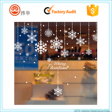 Fancy custom transparent snow flower image wall decoration sticker for Christmas