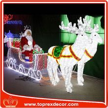 high quality metal trophy led lights inflatable santa claus christmas decoration