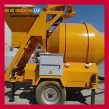 Portable Concrete 0.75 yard skip hoist mortar mixer machine