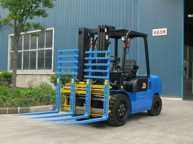 JJCC forklift truck with single -double pallet handler for pallets loading