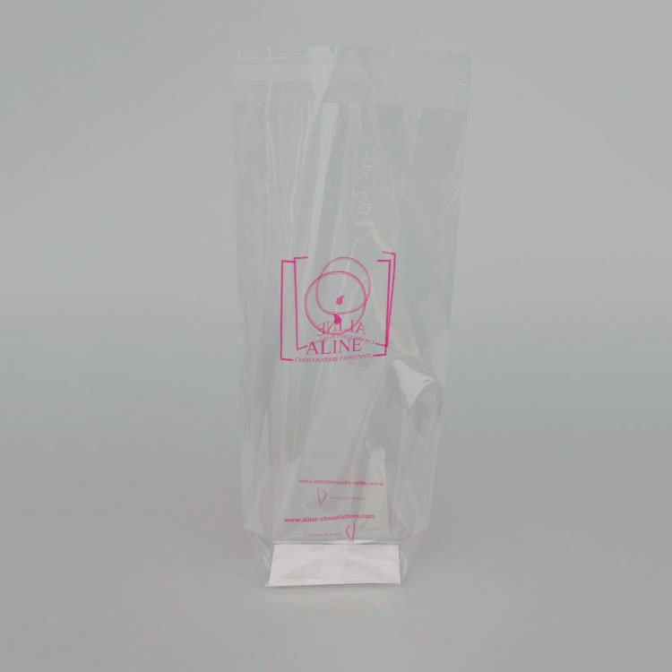 Factory price custom plastic clear paper bread bag