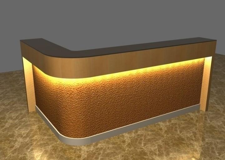 White Color Modern Reception Desk L Shape Reception Desk