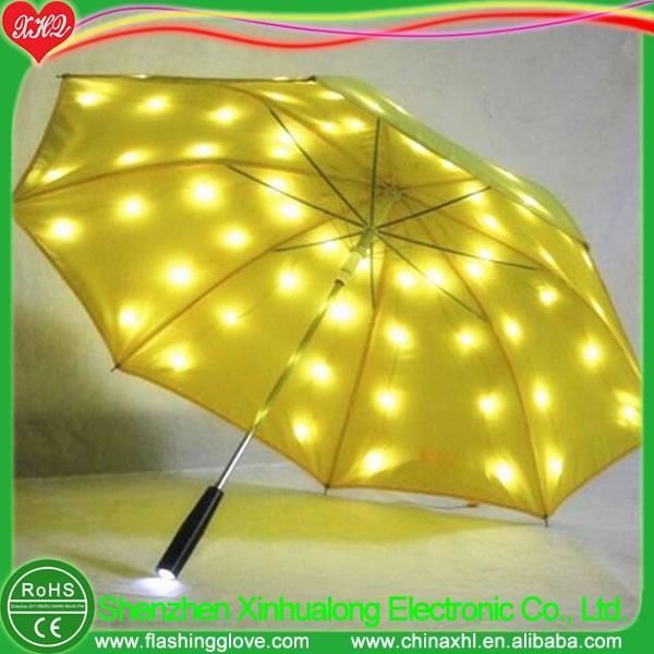 Light up electronic LED light umbrella