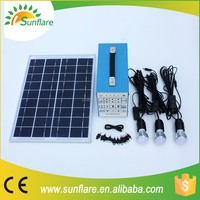 10w 20w 30w solar kits with 3 bulbs and mobile phone charger
