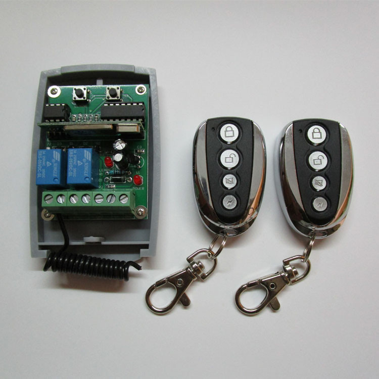Top Selling 2 Channel wireless transmitter receiver for garage door opener