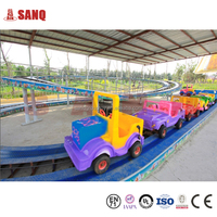 SANQGROUP FACTORY China Outdoor Games Rides Family Roller Coaster Amusement Rides Mini Shuttle Rides Playground