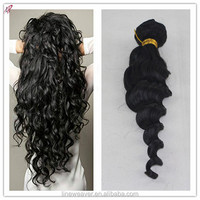 Brazilian Virgin Hair DEEP Wave 1#color TOP quality Unprocessed Human Weave