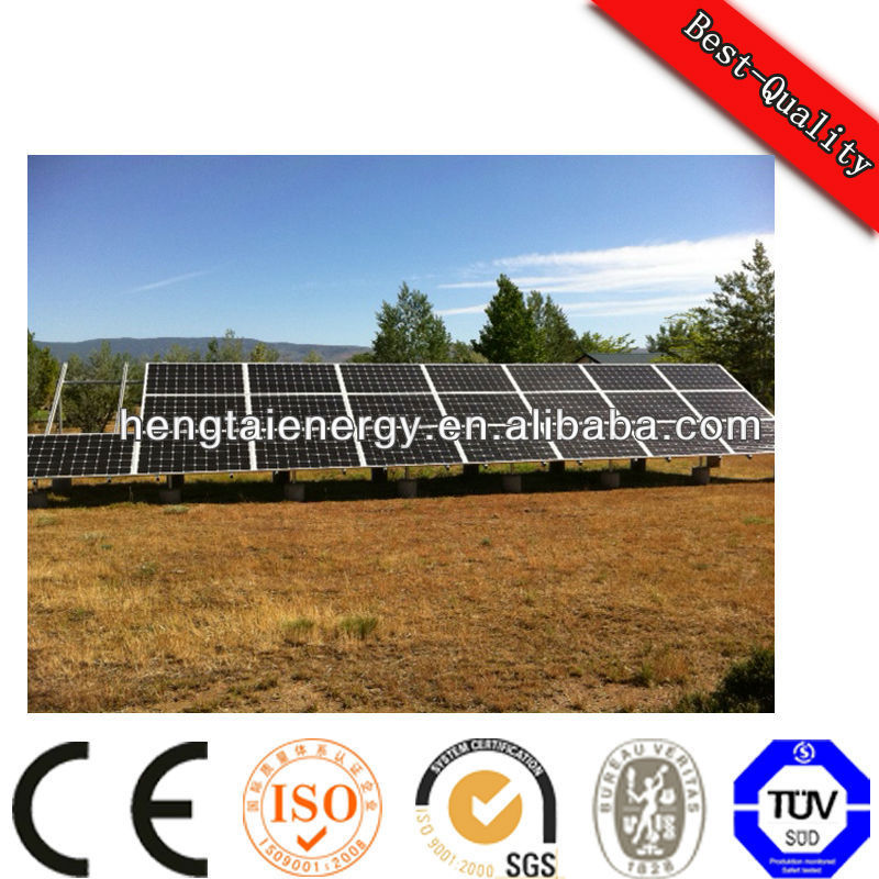 On grid single axis solar tracker system