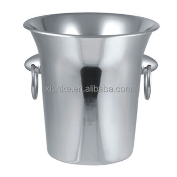 3.5L Single Wall Stainless Steel ice bucket for drinks