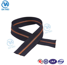DAWEI brand 5# aluminum/copper/brass material metal teeth zipper roll for jeans