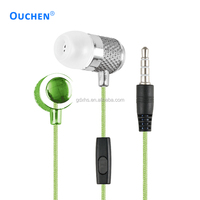 2017 hot new products wired earphone with mic cheap custom headphone factory price OH-3847