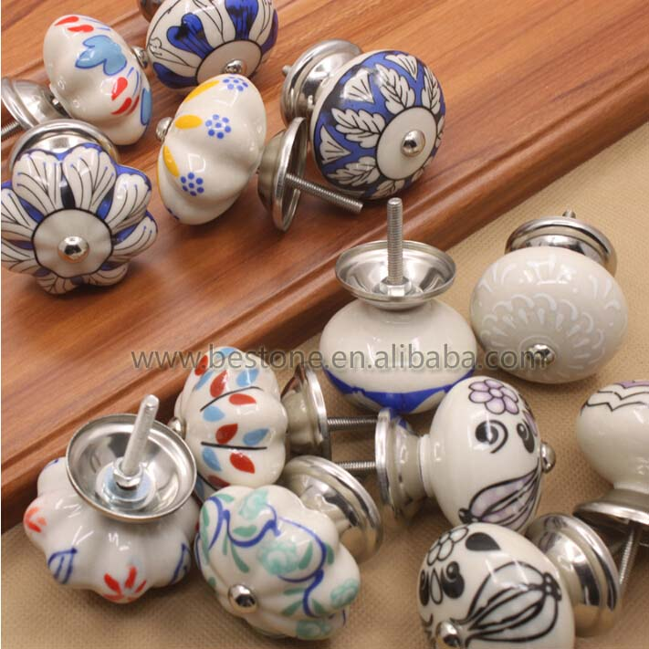 Custom Ceramic Pumpkin Bedroom Knobs