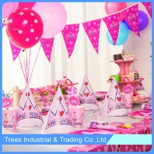 party decorating supplies princess paper banner kit hat set