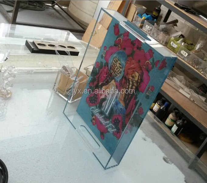 UV printing clear acrylic gift trays wholesale