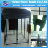 out door black powder coated chain link dog kennels